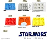 Set of 6 Star Wars Silicone Ice Trays / Chocolate Molds:  Darth Vader, Stormtrooper, Millennium Falcon, X-Wing Fighter, Han Solo in Carbonite, and R2-D2