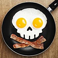 Rabbit Silicone Egg Mold Ring Cooking Tools Fried Egg Kitchen Gadgets Cheapest Price (Black skull)