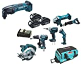 Makita 18V LXT Li Ion LXT600 6 Piece Kit And BTM50 BTM50Z BTM50Rfe Oscillating Multicutter