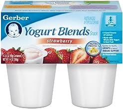 Gerber Yogurt BlendsStrawberry 4-Count 35-Ounce Cups Pack of 6