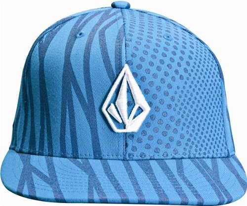 Volcom Blue Hat Fitted Angled Stripe 210 Cap