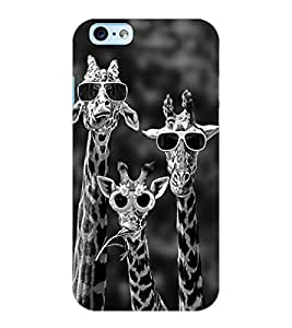ColourCraft Funny Animal Design Back Case Cover for APPLE IPHONE 6S