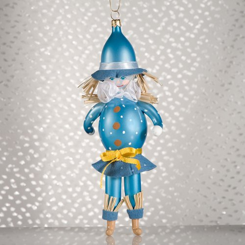 De Carlini Scarecrow Figure Ornament Wizord Of Oz – Blown Glass 8.00 IN