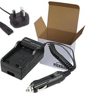 S008 charger for panasonic cga-s008 cga-s008a cga-s008a/1b cga-s008e cga-s008e/1b dmw-bce10e db-70 battery compatible lumix dmc-fx30 ,dmc-fx33, dmc-fx55, sdr-s10 series with car adapter and uk power cord