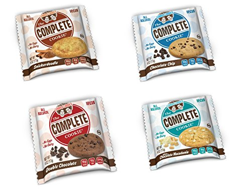 Lenny & Larry's  The Complete Cookie, 4 Flavor Variety Sampler (Pack of 12)