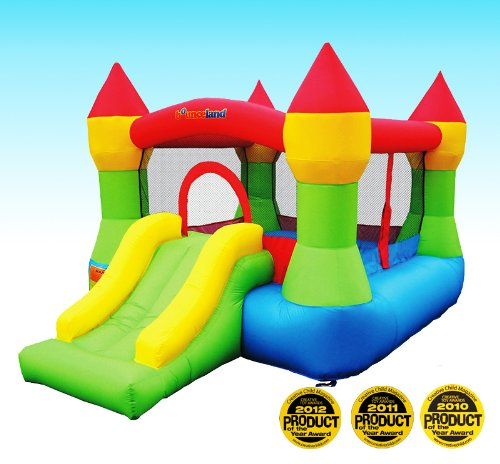 New Bounceland Castle W/Hoop Inflatable Bounce House Bouncer