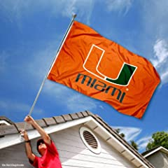 Buy Miami Hurricanes UM Canes University Large College Flag by College Flags and Banners Co.