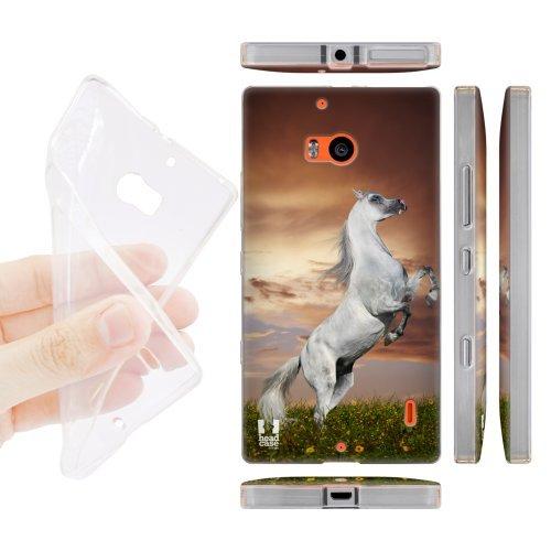 Head Case Designs Cavallo Animali Selvatici Back Case Cover in Silicone per Nokia Lumia 930 Icon 929