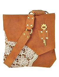 ROSTIG Women's Leather Sling Bag Brown ROSTIGS006