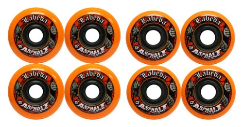 Best Buy! LABEDA WHEELS Roller Hockey GRIPPER ASPHALT HILO 4-76mm Wheels/4-80mm Wheels