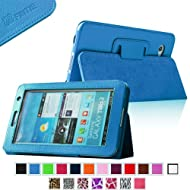 Fintie Slim Fit Folio Case Cover For Samsung Galaxy Tab 7.0 Plus / Samsung Galaxy Tab 2 7.0 Tablet - Blue