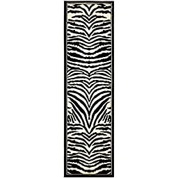 Safavieh Lyndhurst Collection LNH226A White and Black Runner, 2 feet 3 inches by 6 feet (2\'3\