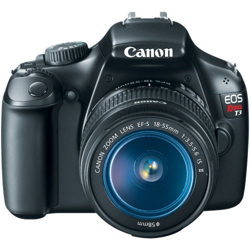 51HgYVS2ZXL Canon EOS Rebel T3 12.2 MP CMOS Digital SLR with 18 55mm IS II Lens and EOS HD Movie Mode (Black)