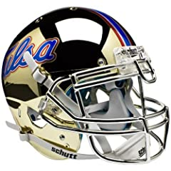 TULSA GOLDEN HURRICANE Schutt AiR XP Full-Size AUTHENTIC Football Helmet (CHROME) by ON-FIELD