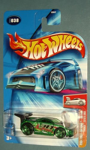 2004 Hot Wheels First Editions 38/100 - Tooned Toyota MR2 - Green - 1