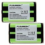 Floureon 2 Packs Home Phone Battery For Panasonic HHR-P104, HHR-P104A, KX-FG6550, KX-FPG391, KX-TG2302, KX-TG2303, KX-TG2312, KX-TG2355W, KX-TG2356B, KX-TG2356BP, KX-TG2356S, KX-TG2356W, KX-TG2357B, KX-TG2357PK, KX-TG2382B, KX-TG2386B, KX-TG2388B, KX-TG2396