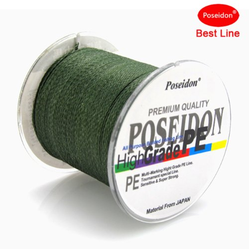 Tri poseidon top grade japanese multifilament braided for Best fishing line brand