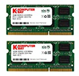 Komputerbay 8GB (2x 4GB) DDR3 SODIMM (204 pin) 1333Mhz PC3 10600 for Apple 8 GB (9-9-9-25)