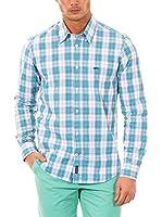 McGregor Camisa Hombre Pieter Marlin B Bd Cf Ls (Verde Agua / Blanco / Lila)