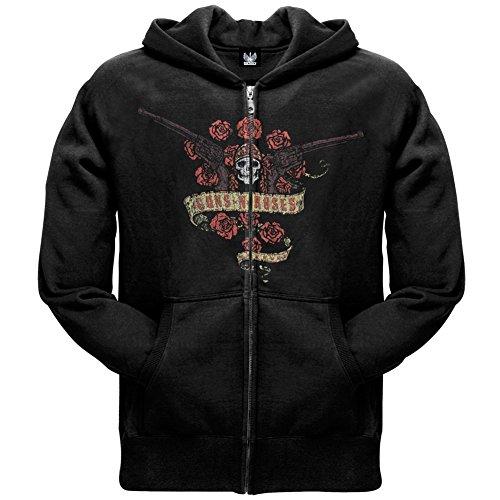 Guns N' Roses -  Felpa con cappuccio  - Uomo nero XX-Large