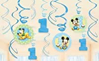Baby Mickey Mouse 1st Birthday Swirl Decorations Disney Party Supplies