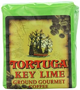 Tortuga Key Lime Gourmet Ground Coffee, 8-Ounce Bags (Pack of 4)