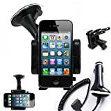 IMOOVE - Kit Support Auto Voiture Apple iPHONE 4/ iPhone 3GS / 3G / V1 et iPOD Touch + Chargeur Autopar IBROZ