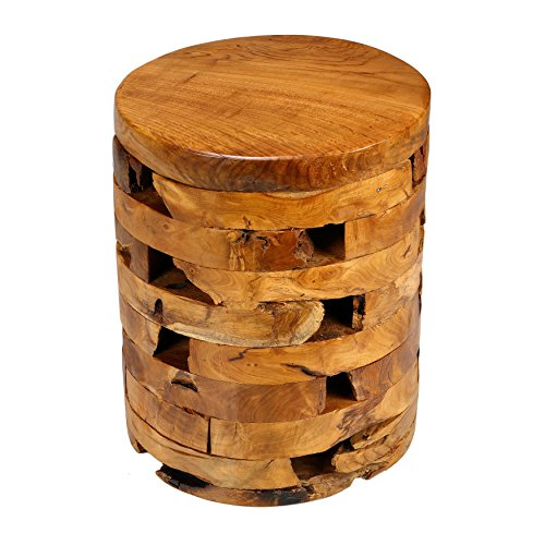 Bare Decor Stonehenge Artisan Accent Table in Solid Teak Wood (Tree Stump Side Table compare prices)