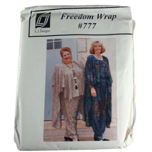 L.J. Designs 777 Sewing Pattern Misses Freedom Wrap Size One Fits Most
