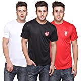 T10 Sports White + Red + Black Kxip Set Of 3 Interlock Dry Crew