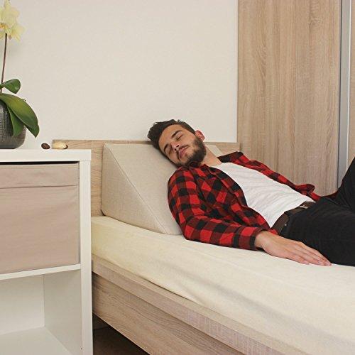 Cuneo da letto sostegno per la schiena per letto e divano cuscino per la tv e da lettura - Sostegno per leggere a letto ...