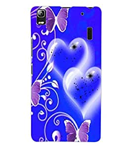 ColourCraft Heart and Butterfly Design Back Case Cover for LENOVO A7000 TURBO