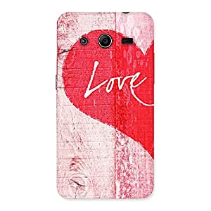 Love Pink Back Case Cover for Galaxy Core 2