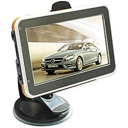 """Yanx® 12,70 cm (5"""") auto per navigatore GPS per navigatore satellitare Touch Screen auto per navigatore GPS auto GPS con garanzia a vita e aggiornamenti di mappe Europa"""