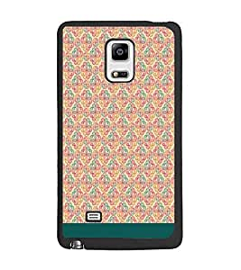 PrintDhaba Floral Pattern D-1883 Back Case Cover for SAMSUNG GALAXY NOTE 4 (Multi-Coloured)