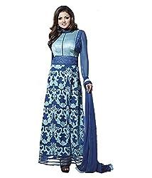 Metroz Women Blue Georgette Semi-Stitch Suit