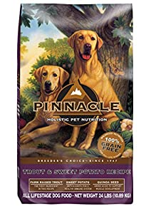 Pinnacle Grain Free Trout and Sweet Potato Formula Dog Food, 24 lb.