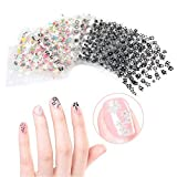 Tinksky 50 Sheets 3 D Design Self Adhesive Tip Nail Art Stickers Decals(Random Color Pattern)