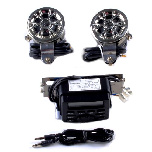 12V Fm Motorcycle Radio Waterproof Speaker, Mp3 Input