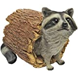Design Toscano Bandit the Raccoon Statue, Multicolored