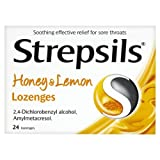 Strepsils Honey & Lemon Lozenges - 24-Pack
