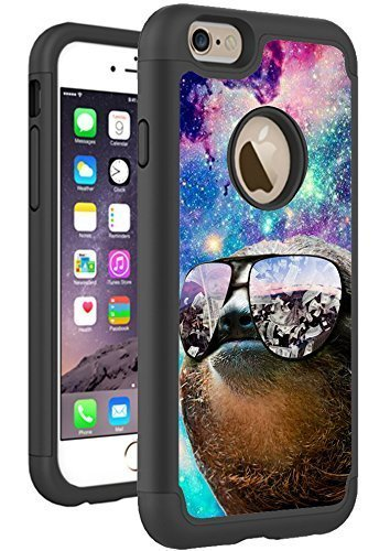 iphone-se-case-iphone-5s-case-cover-by-hybcase-featuring-thug-life-sloth-hipster-in-galaxy-space-fun