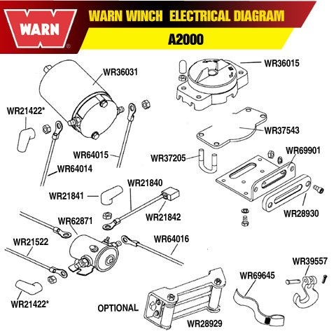 warn a2000 parts diagram warn 36015 atv winch control switch from warn - peters ... #9