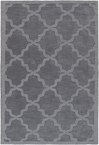 Artistic Weavers AWHP4023-576 Hand Woven Wool Rug, 5 by 7.6-Inch, Charcoal