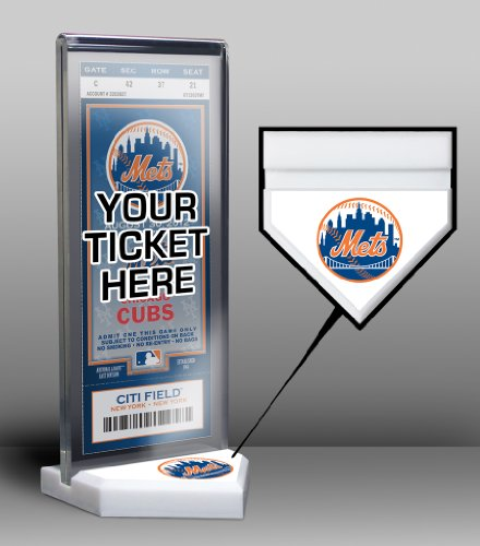 MLB New York Mets Home Plate Ticket Display Stand (Ny Mets Tickets compare prices)