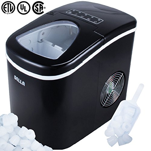 DELLA© Portable Ice Maker, Produces up to 26 lbs. of Ice Daily, 2-Size (Black)