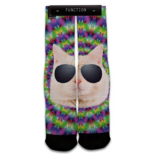 Function - Trippy Cat Printed Sock