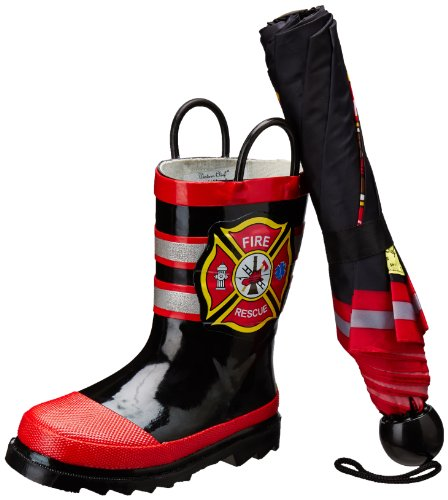 Western Chief Fire Rescue Boot & Umbrella Set (Toddler/Little Kid)