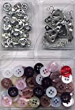 Sewing Essentials, 80 pcs Sewing Spare Buttons Set, Sewing Kit