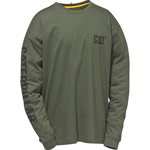 caterpillar-c1510034-t-shirt-a-manches-longues-homme-large-vert